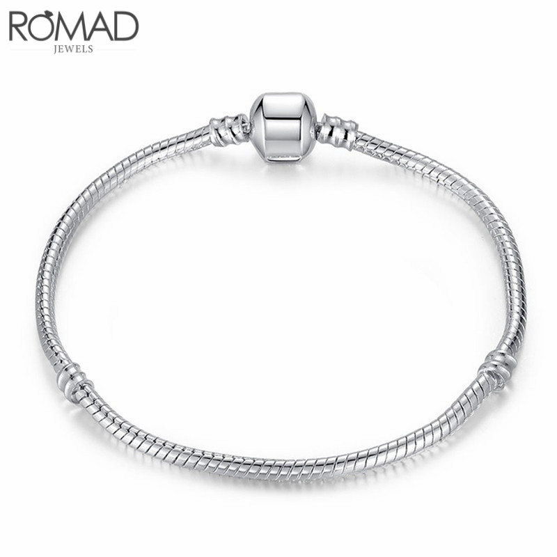 Gs 2018 New Design Sliver Bracelet Men Diy Bead Famous 18-22cm Stainless Steel Bracelet Bangles For Woemen Party Cuff Jewelry R4