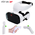 112FOV Fiit VR 3F Virtual Reality Stereo Headphone 3D Glasses Headset VRBOX Helmet Cardboard for4-6.4'phone + Original Gamepad