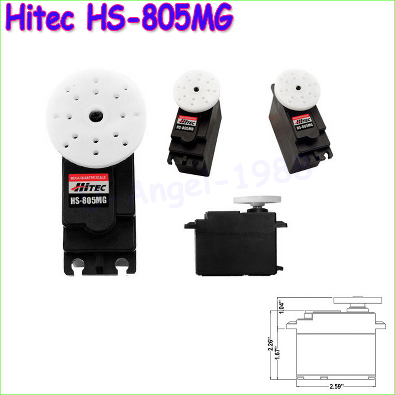1pcs Hitec HS-805MG Mega Metal Gear Servo HS805MG/HS805/805MG/805 jx pdi 5521mg 20kg high torque metal gear digital servo for rc model