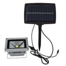 De alta Potencia de 10 W de Energía Solar del Jardín Luz de Inundación del LED Proyector IP44 A Prueba de agua Al Aire Libre La Noche de la Pared de Iluminación de Emergencia