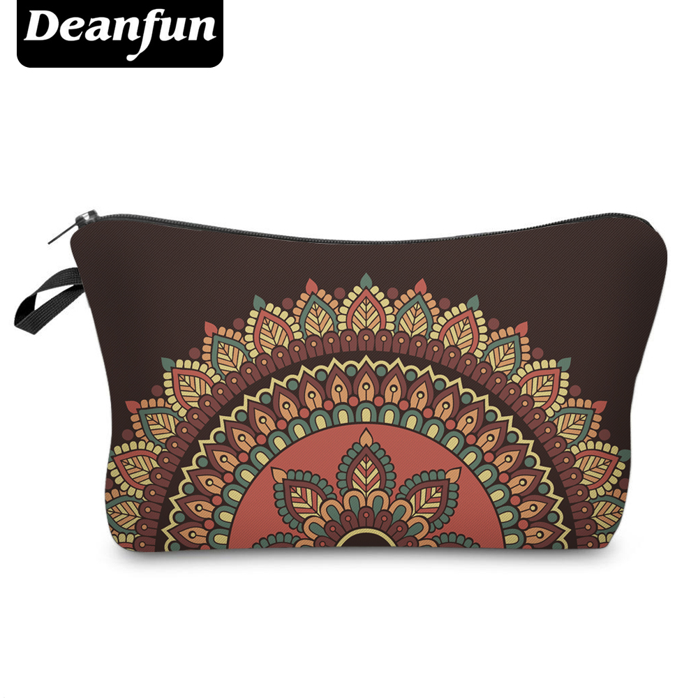 Deanfun 3D Printed Cosmetic Bags Vintage Pattern Women Makeup Organizer For Travelling Necessity  50968