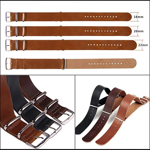 Men Fashion Faux Leather Pin Buckle Wrist Watch Strap Watchband 18/20/22/24mm faux leather strap floral face watch