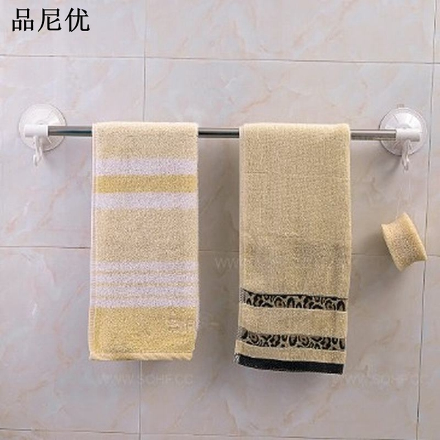 European Bathroom Towel Bar 40cm Stainless Steel Wall Hanger Towel Rack  Suction Hooks Bathroom Accessories Towel