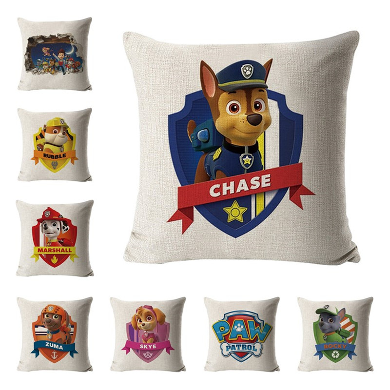 Paw Patrol Hug Pillowcase Toy Sofa Cushion Pillowcase Ryder Patrulha Canina Anime Figures Pillowcase Children Birthday Gifts