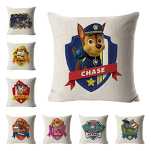 Paw patrol hug pillowcase toy sofa cushion ryder patrulha canina anime figures children birthday gifts