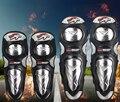 4 peças/set Aço Inoxidável liga Motocicleta equipamentos de Proteção joelheira Protetor de Motocross Corrida Joelho Cotovelo Guardas Engrenagem ajustável