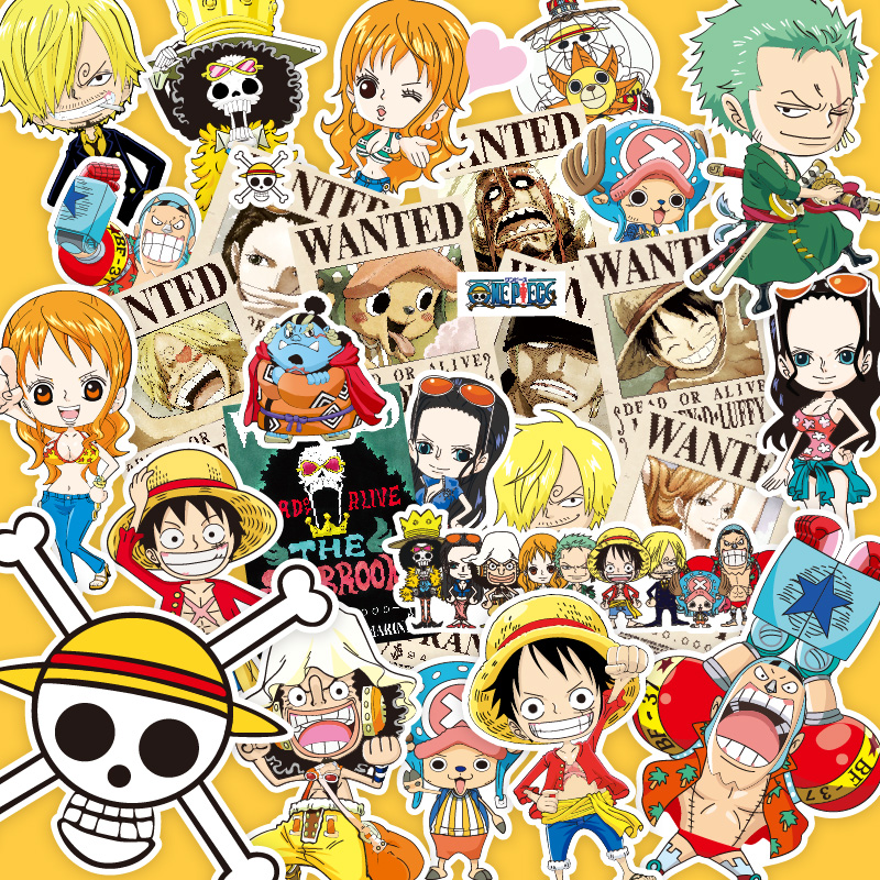 Anime pirates road fly straw hat group stickers travel suitcase luggage computer guitar waterproof