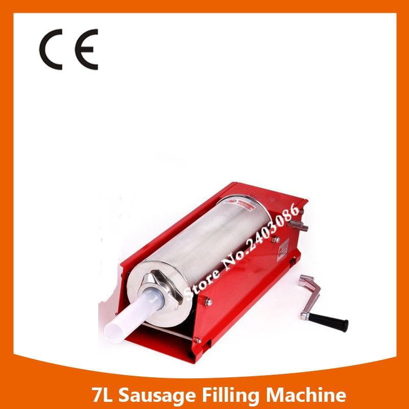 Professional horizontal manual 7L sausage filler food processing making machine for sale
