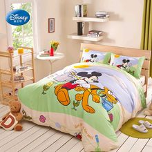 Disney Mickey Minnie Mouse Duvet Cover Set Flatsheet Pillowcases Bedlinen for Boys Girls Kids no Comforter Filling Single Queen(China)