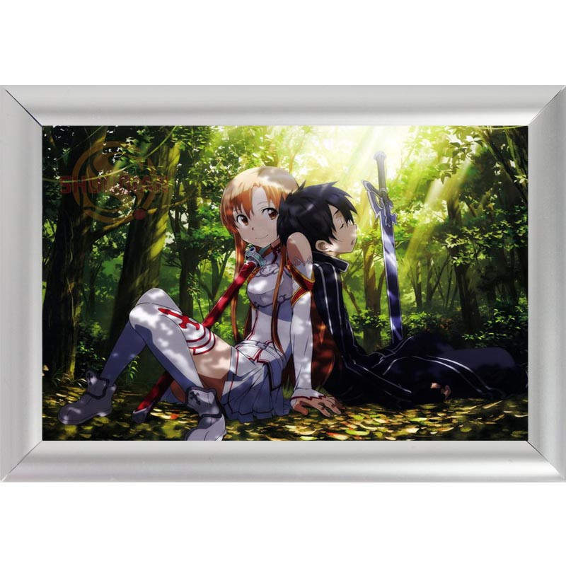 silver color aluminum alloy poster frame home decor custom canvas frame sword art online canvas poster
