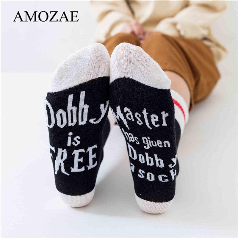 2020 New Spring Summer Cotton Short Socks Harajuku Letters Print Cute Funny Socks Dobby Amozae Kint Female Casual Creative Socks