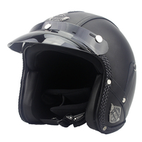 VOSS Motorcycle Helmet Motorcross Full Face Vintage Helmet For Scooter Leather Crash Helmet Windproof Open Face