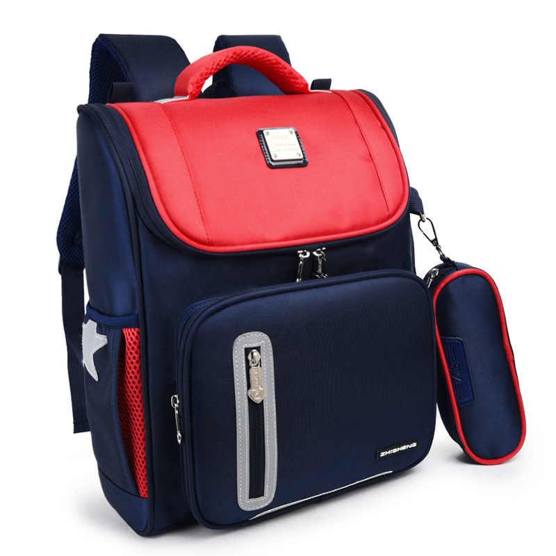 Ортопедический детский школьный рюкзак нейлоновый детский школьные ранцы для мальчиков и девочек рандосеру рюкзак Детская школьная сумка для школьников