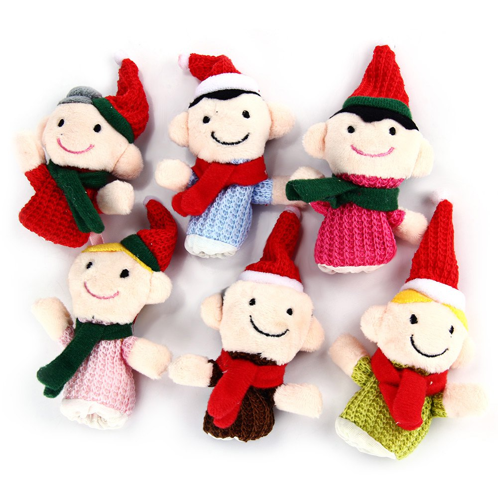 6PCS Family Finger Puppets Kids Educational Toy Funny ...