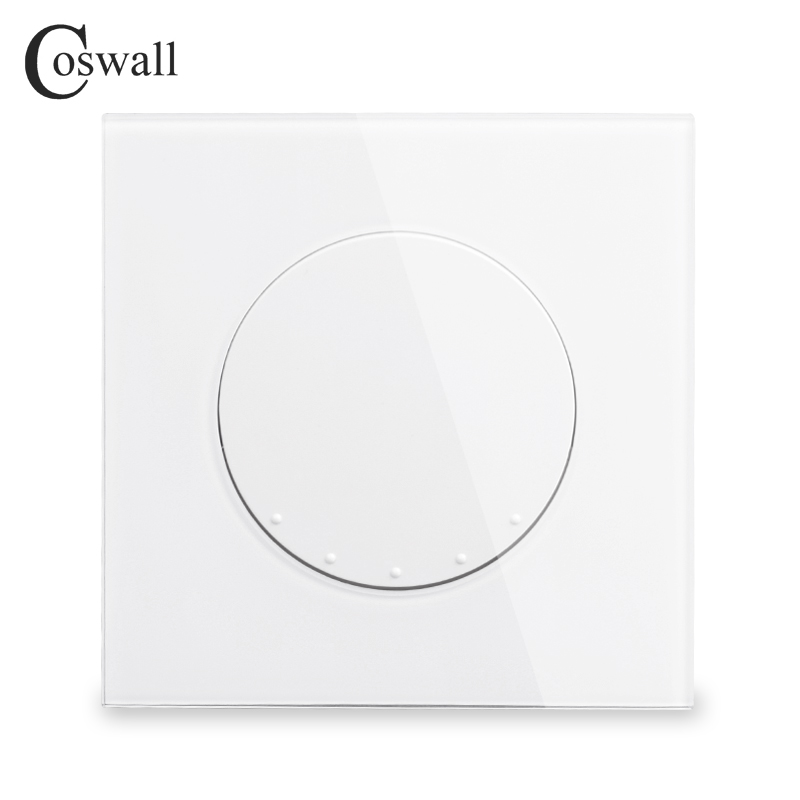 Coswall Crystal Glass Panel 16A 1 Gang Crossover Conmutador Intermediate Light Switch On / Off Wall Switch InterruptorCoswall Crystal Glass Panel 16A 1 Gang Crossover Conmutador Intermediate Light Switch On / Off Wall Switch Interruptor