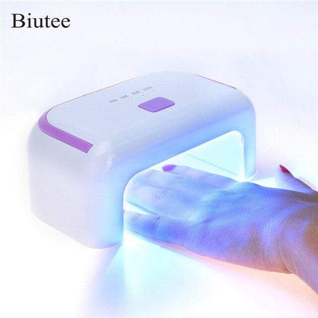 Biutee נייד USB 12 W LED UV נייל מנורת מייבש עם USB כבל + תקע חשמל נטענת ריפוי מניקור טיפול אור לנייל