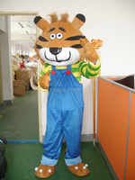 Hot sale! mascot costumes Blue straps tiger for sale Animal carnival costume Halloween Dress kids party free shipping