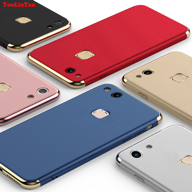 YonLinTan Coque,Case,cover For Huawei p9 lite p9lite Original Luxury Plating Anti-Knock 3in1 hard Plastic Phone Protective Cases