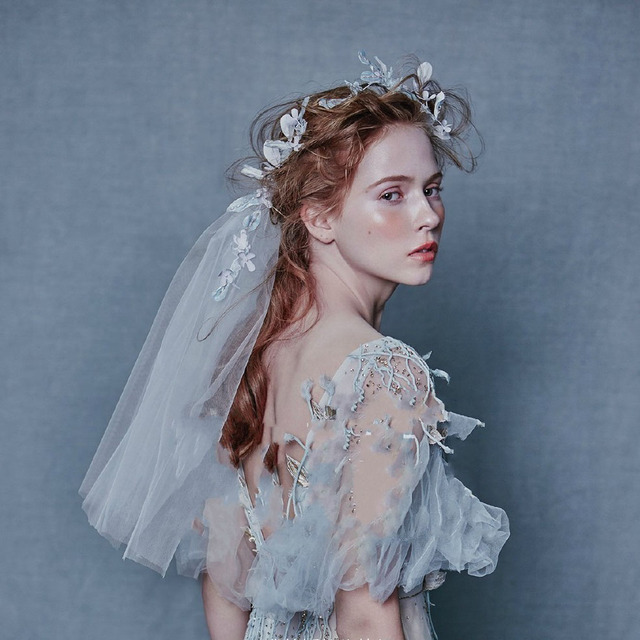 Wedding Veil Vintage Wedding Accesories 2016 Hamdmade Crystal Wedding Veil Petals 2016 Veu De Noiva White Bridal Veils