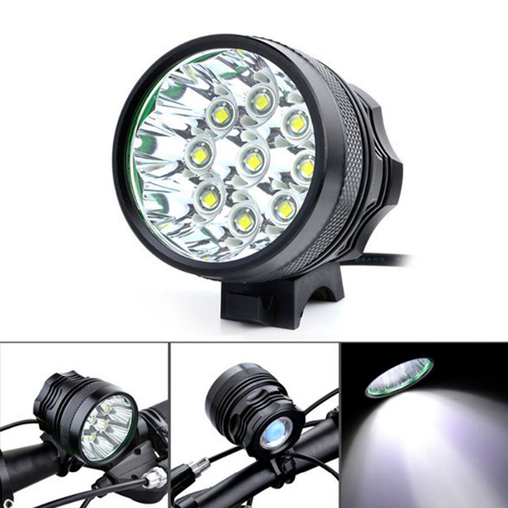ФОТО Securitying 10000Lm 9 x XM-L T6 LED Camping Bicycle Light Bike Light Cycling Flashing Light Lamp + 8 x 18650 Battery Pack