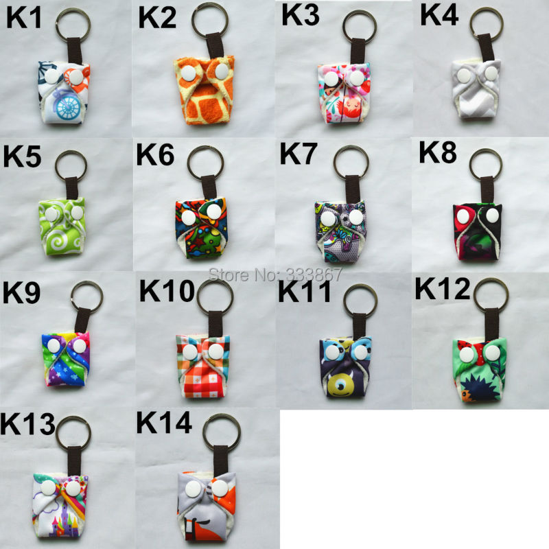 Sigzagor 50 Cute Mini Tiny Cloth Diaper Keychains Key Chains Adorable Baby Shower Gift Mama