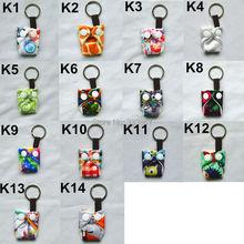 [Sigzagor]50 Leuke Mini Tiny Doek Luier Sleutelhangers Sleutelhangers, Schattig, Baby Shower Gift, mama Gift Kerst Ornament,14 Keuzes