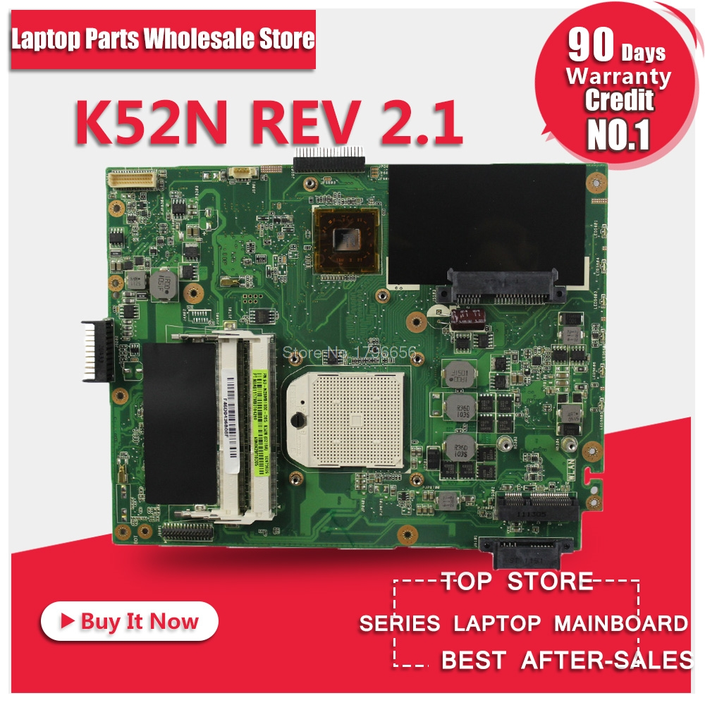 Motherboard For Asus K52N REV:2.1 X52N notebook Mainboard free shipping for asus l50vn x57v m50vc m50vm m50v motherboard npcmb1100 a05 npcmb1500 a02 mainboard m50vm rev 2 0 pm45100