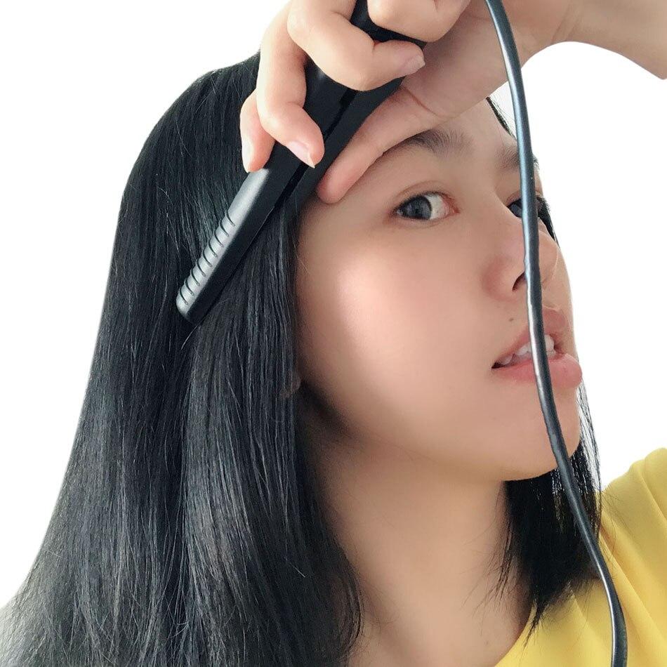 KIPAPA Mini Hair Straightener Flat Iron Mini Salon Ceramic Travel Hair Straightening Iron Electric Hairdressing Styling Tools