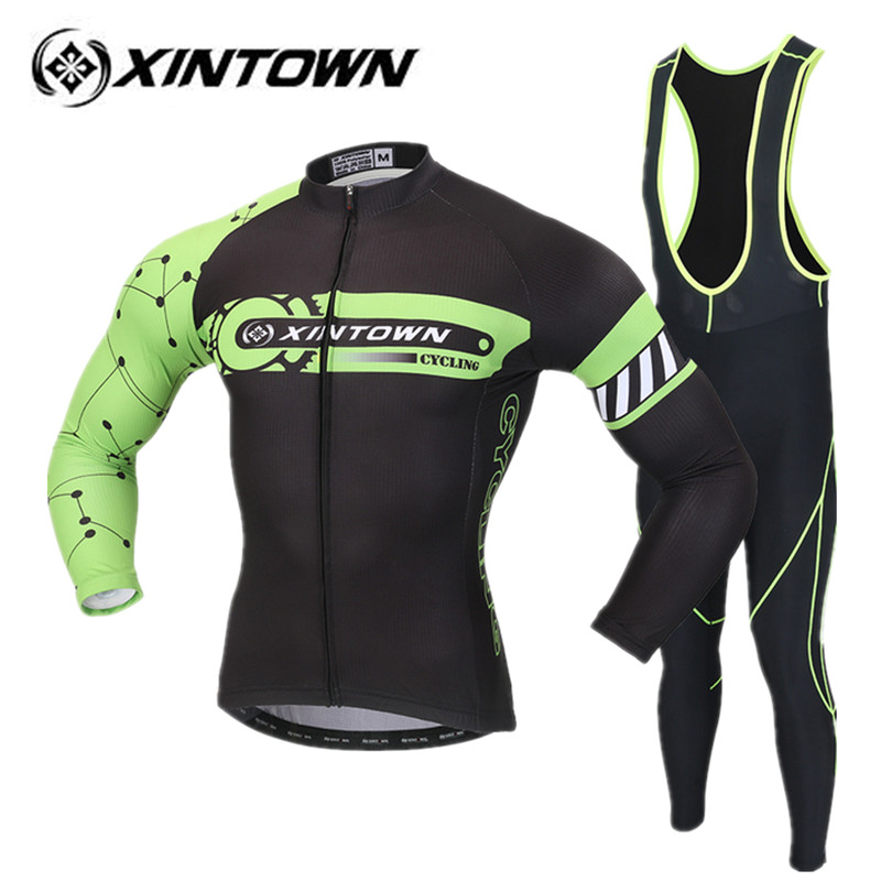 XINTOWN Cycling Jersey set Long Sleeve New Clothing Bike Bicycle Bike Pants Set Breathable ropa ciclismo bicicletas Riding Wear