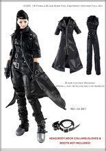 "ESTARTEK-DF CC261 1/6 Zwart Een stuk Suits Overall Leather Jas Pak voor 12 ""Collectible Action Figure DIY(China)"