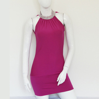 HU&GH Halter Lace-up Sleeveless Dress Women Sexy Party Vestidos Summer Nightclub Bodycon Mini Dresses