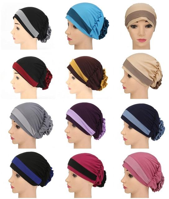Fleur Musulman Interieure Hijab Caps Islamique Underscarf Chapeaux