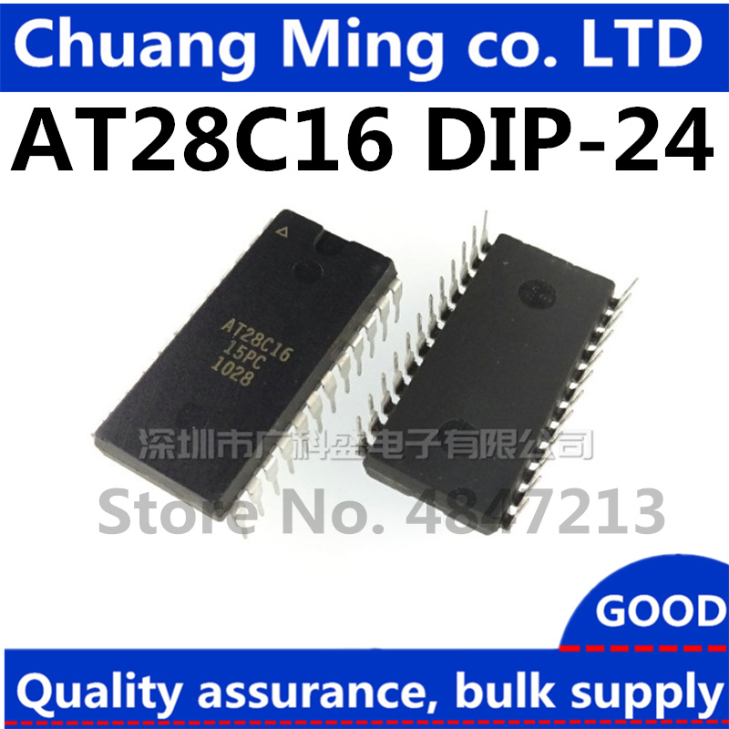 Free Shipping 5-10pcs AT28C16 AT28C16-15PU AT28C16-15PI AT28C16-15PC 28C16 DIP-24 IC title=