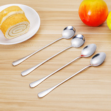 2PCS/Set Coffee Stirring Spoon Stainless Steel LongHandle Ice Cream Sharp Round Head Classical Soup Kitchen Utensil