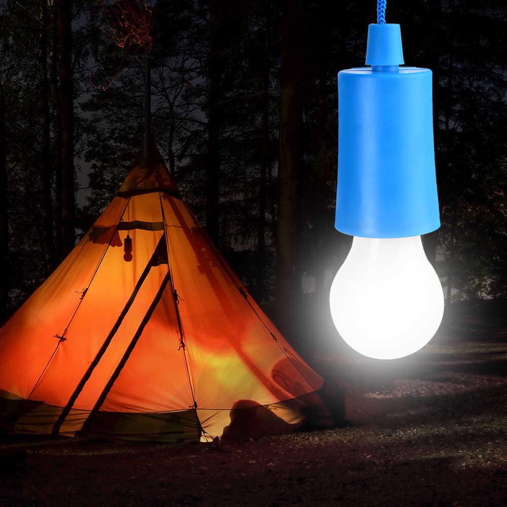 IVYSHION портативный Pull шнур лампочки наружные подвесные ночные светильники PullCord ночник светодиодный светильник фонари декор для сада