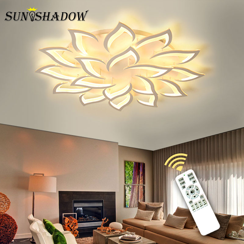 White Finished Modern LED Chandeliers For Living Room Bedroom Kitchen Lamps AC110V 220V Led Ceiling Chandeiler Lighting Fixtures