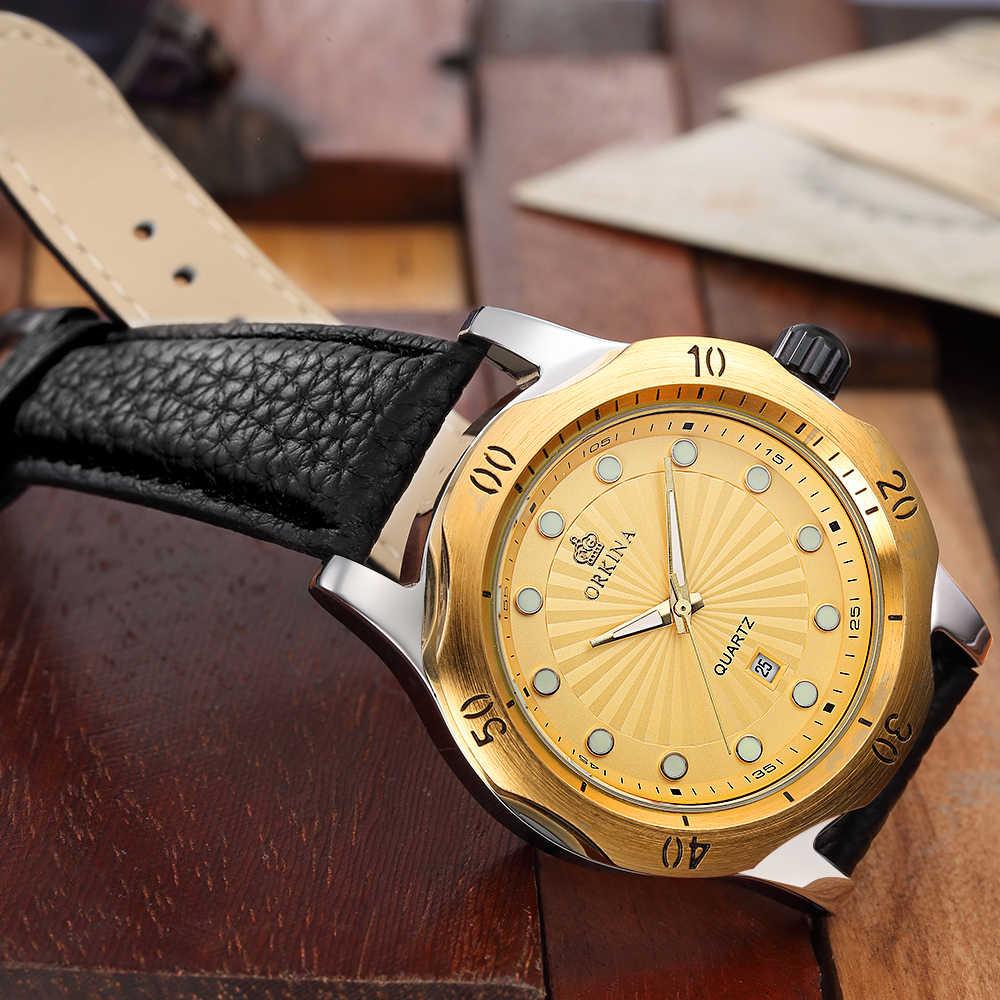MG Orkina Jam Tangan QUARTZ Pria Jam Tangan Atas Merek Mewah Terkenal Jam Tangan untuk Pria Clock Relogio Masculino Relog Pria Hodinky