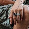 Hombres tamaño del anillo de 9 anillos de la joyería del brazalete del punk rock pulsera del pun ¢ o de malla de los hombres brazalete de la pulsera de acero titanium brazalete