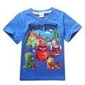 2Y-10Y NEW Desenhos Animados Pássaros Irritados Crianças t Camisas Meninos de Verão para Crianças de Manga Curta T-shirt de Algodão Roupa Do Bebê Dos Meninos camisetas