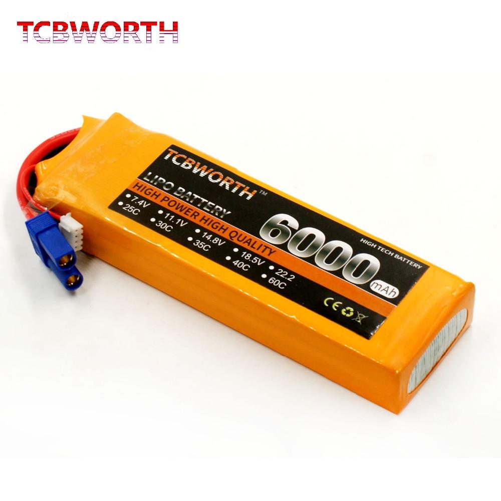 Nouvelle Batterie 3 s 11.1 v 6000 mah 60C RC LiPo batterie Pour Drone RC Avion Hélicoptère Quadrirotor 6000 mah batterie LiPO 11.1 v Jouet AKKU