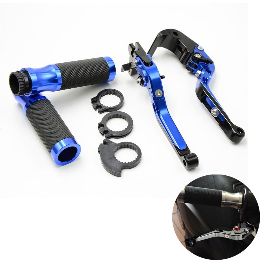 New Type Motorcycle Brake Clutch Lever&7/8Handlebar Hand Grip Blue For Suzuki GSXR 600 750 1000 K1 K2 K3 K4 K5 K6 K7 K8 антипробуксовочные ленты type grip tracks