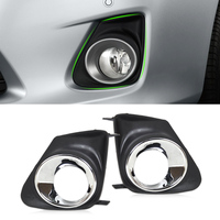 New High Performance 2pcs Front Right Left Bumper Fog Light Lamp Cover Grille Grill For Toyota