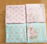 2015New Arrival 40 50cm 4pcs Lot Cotton Patchwork Fabric Tecidos Sewing Bedding Fabrics Roses Pattern Tissu