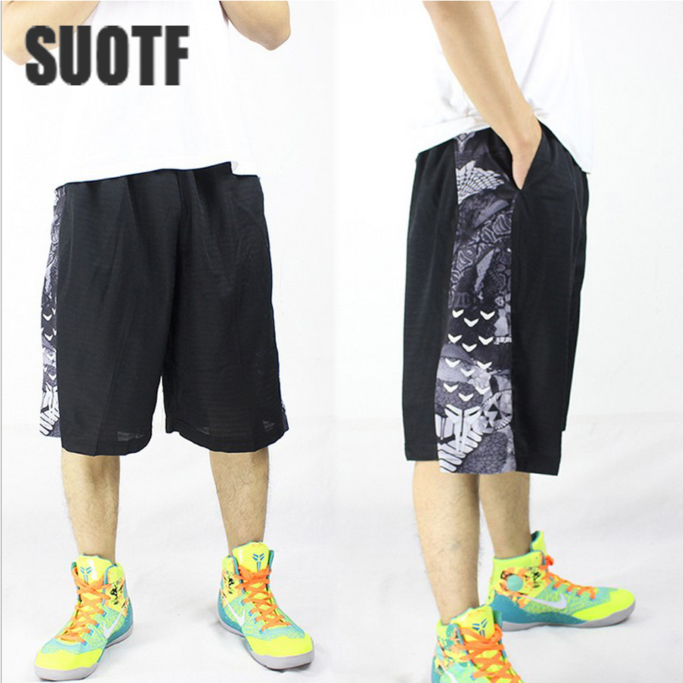SUOTF Sports shorts loose and comfortable breathable basketball competition training paul george fresno state stephon marbury ...