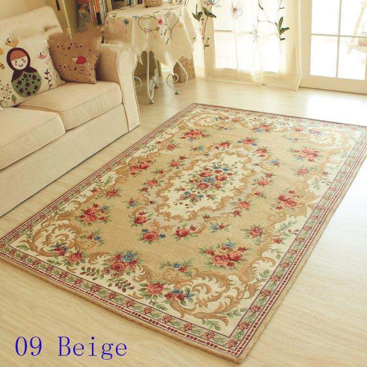 Tapis de salon de style européen, tapis de table basse romantique, décoration de la maison carpets120cmX180cm