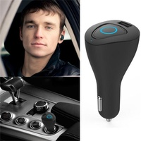 2018 Mini Stereo Car Bluetooth 4.0 Headset Wireless Earphone Headfree bluetooth car kit Headphone with Charging Dock for iphone