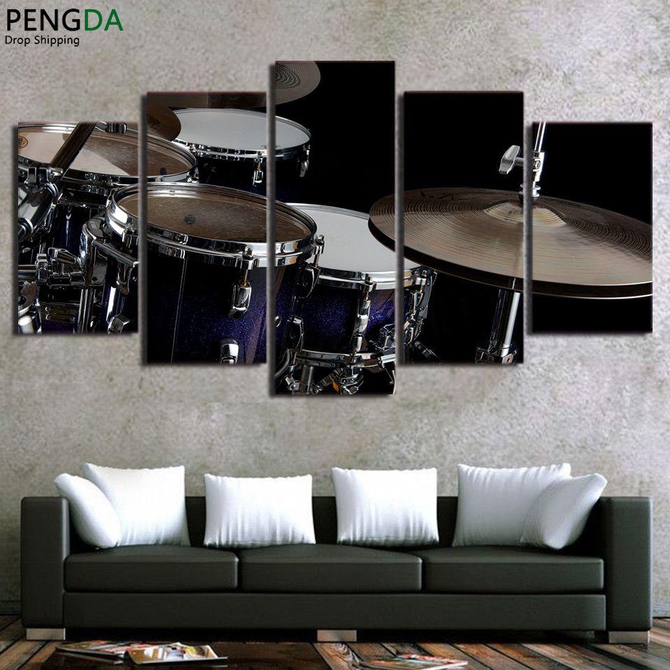 Huile Toile Peinture Photo Wall Art Panneau Instrument De Musique Dcoration  De La Maison Pour With Type De Peinture Pour Maison