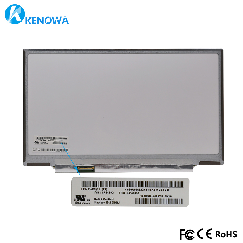 14.0 inch led lcd screen LP140WD2-TLE1 LP140WD2 TLE2 LP140WD2 (TL)(E2) For THINKPAD X1 carbon FRU 04W6859 Laptop lcd screen14.0 inch led lcd screen LP140WD2-TLE1 LP140WD2 TLE2 LP140WD2 (TL)(E2) For THINKPAD X1 carbon FRU 04W6859 Laptop lcd screen
