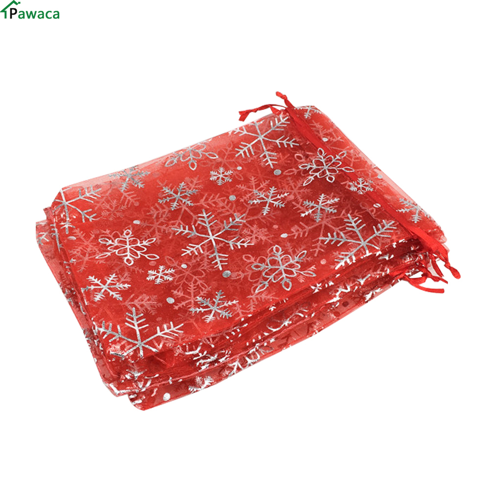 100Pcs Organza Gift Bags Jewellery Christmas Wedding Party Packing Pouches Wond