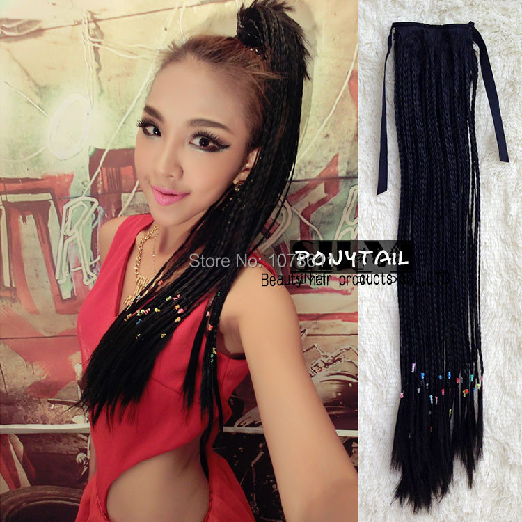 Long drawstring braids ponytail wig synthetic hair weave wig fake long drawstring braids ponytail wig synthetic hair weave wig fake hair braids wig clip ponytail extensions hairpieces for woman on aliexpress alibaba pmusecretfo Image collections